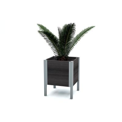 Urbana 17 in. x 17 in. x 22 in. Espresso Brown Vinyl Raised Planter