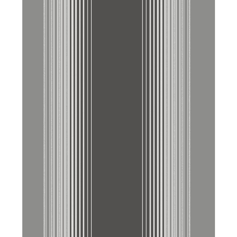 Fine Decor Stefano Black Stripe Wallpaper
