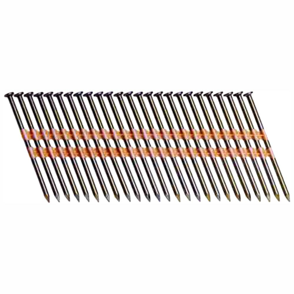 Grip Rite Prime Guard GR08RHG1M 21 Degree Plastic Strip Round Head Exterior Galvanized Collated Framing Nails 2-3//8 x 0.113