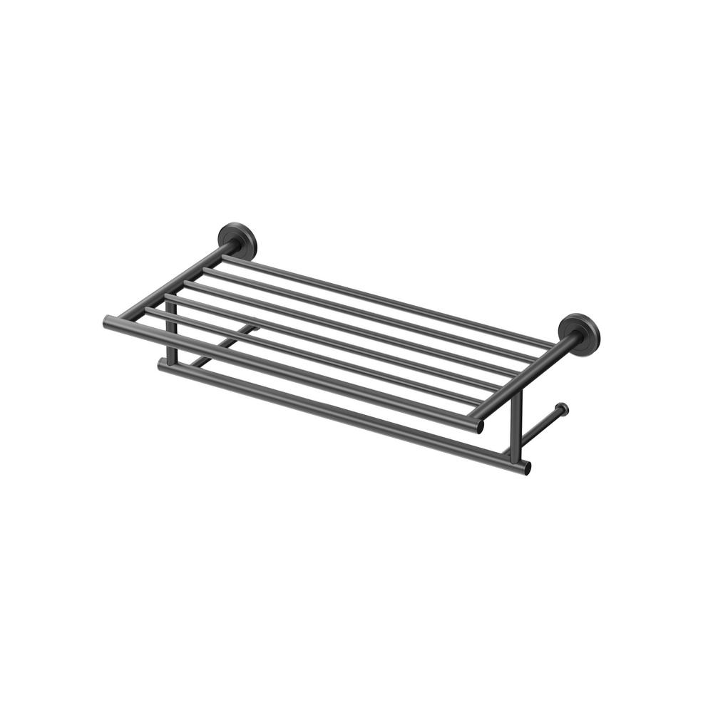 Latitude II 18 in. Towel Rack in Matte Black