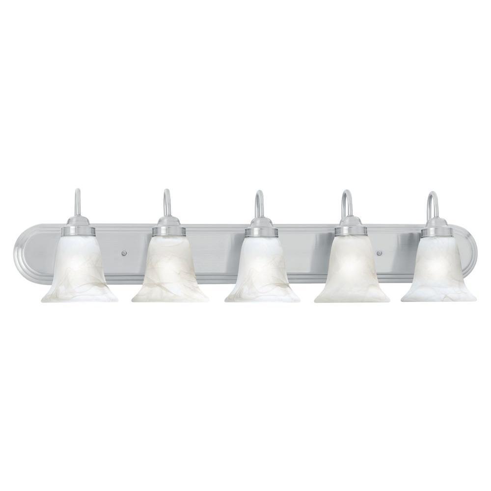 Homestead 5-Light Brushed Nickel Wall Vanity Light