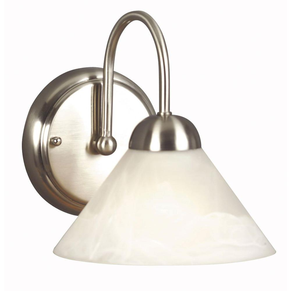 Kenroy Home Madison 1-Light 7 in. Brushed Steel Wall Sconce-DISCONTINUED