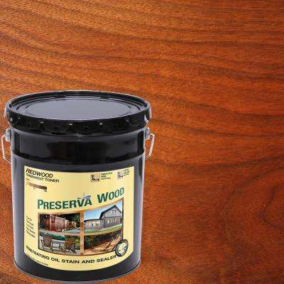 5 Gal. Oil-Based Redwood Penetrating Exterior Stain and Sealer