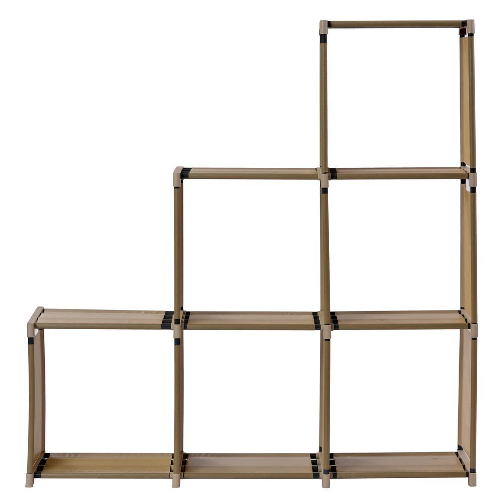 41.3 in. W x 42.1 in. H Tan 6-Cube Organizer