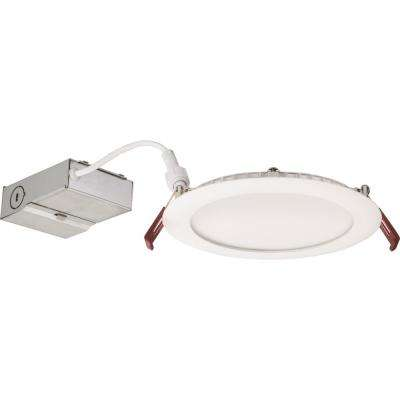 WF6 Wafer 6 in. Brushed Nickel 3000K New Construction or Remodel Wet Location Recessed Integrated LED Kit