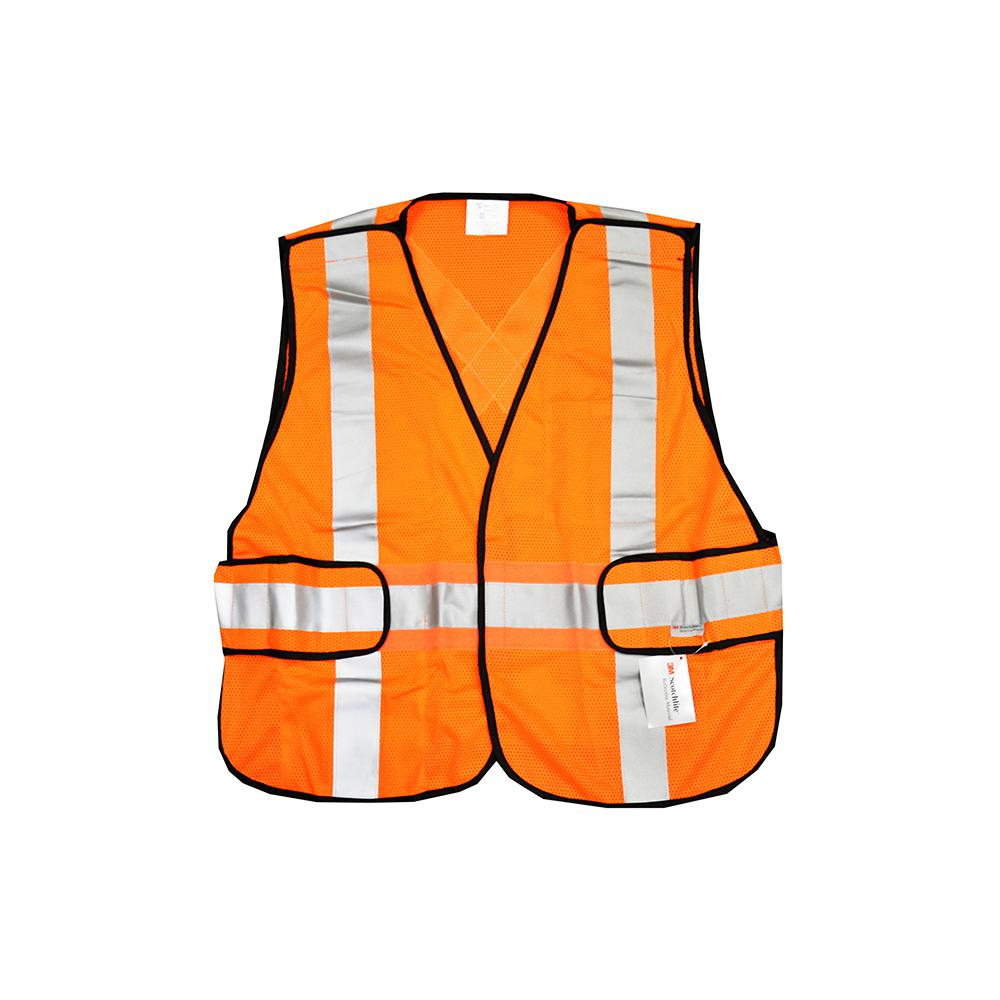 West Chester Protective Gear One Size Fits All Hi Vis Orange Breakaway Construction Safety Vest