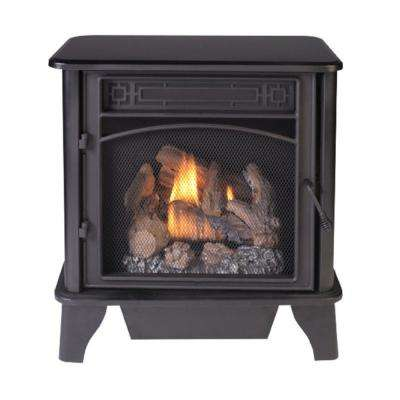 23,000 BTU Ventless Dual Fuel 3-Sided Gas Stove