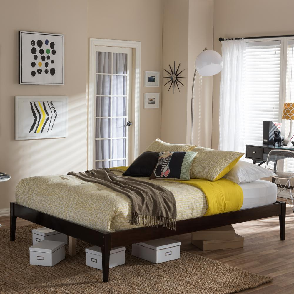 Baxton Studio Bentley Queen Wood Platform Bed
