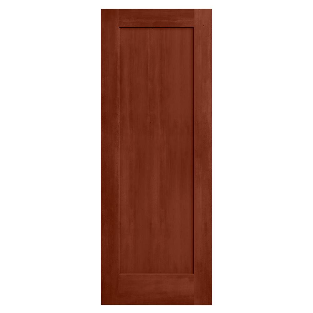 28 in. x 80 in. Madison Amaretto Stain Solid Core Molded Composite MDF Interior Door Slab