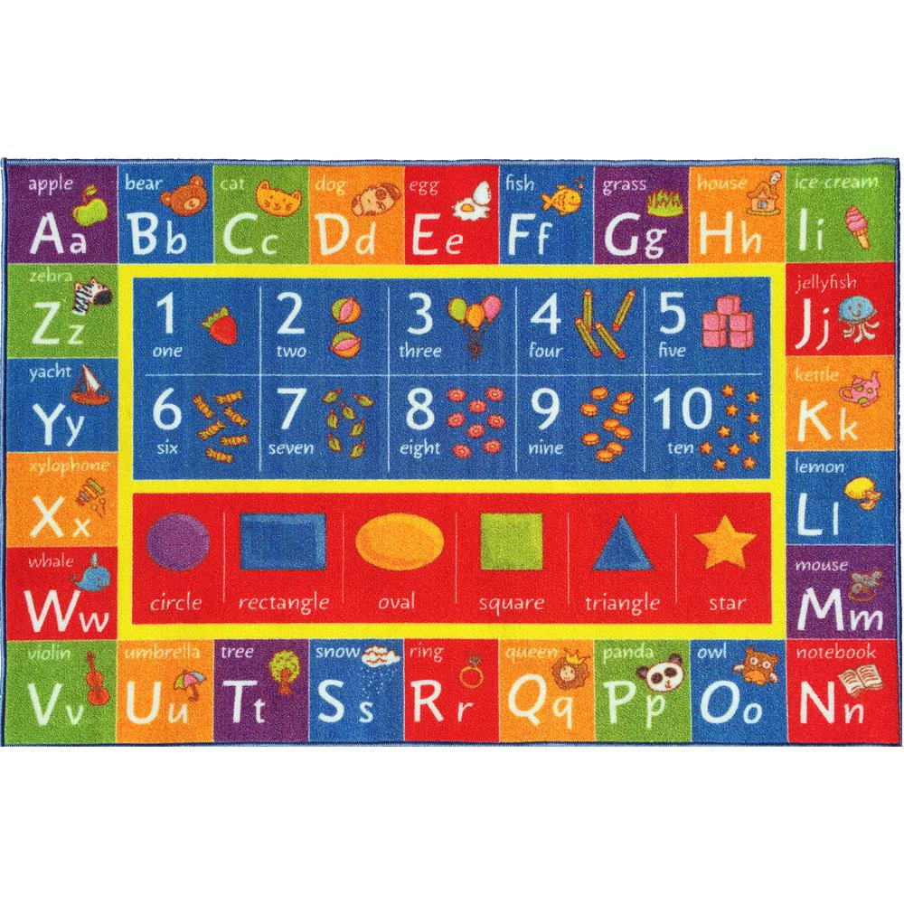 Kc Cubs Multi Color Kids Children Bedroom Abc Alphabet Numbers