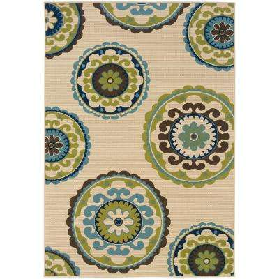 Cabana Beige 2 ft. x 4 ft. Outdoor Area Rug