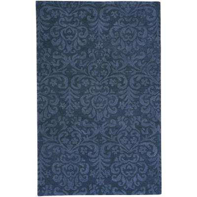 Williamsburg Lace Navy 9 ft. x 12 ft. Area Rug