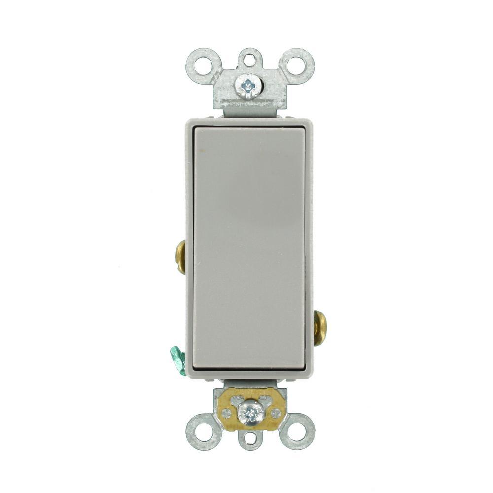 20 Amp Decora Plus Commercial Grade Single Pole Rocker Switch, Gray