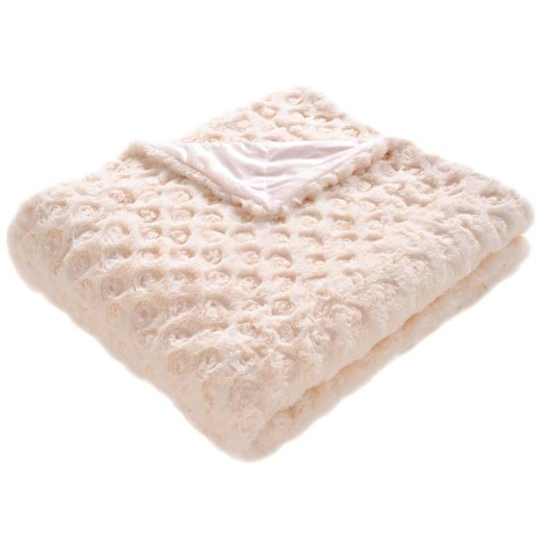 Pebbles 50 in. x 60 in. Cream Throw Blanket