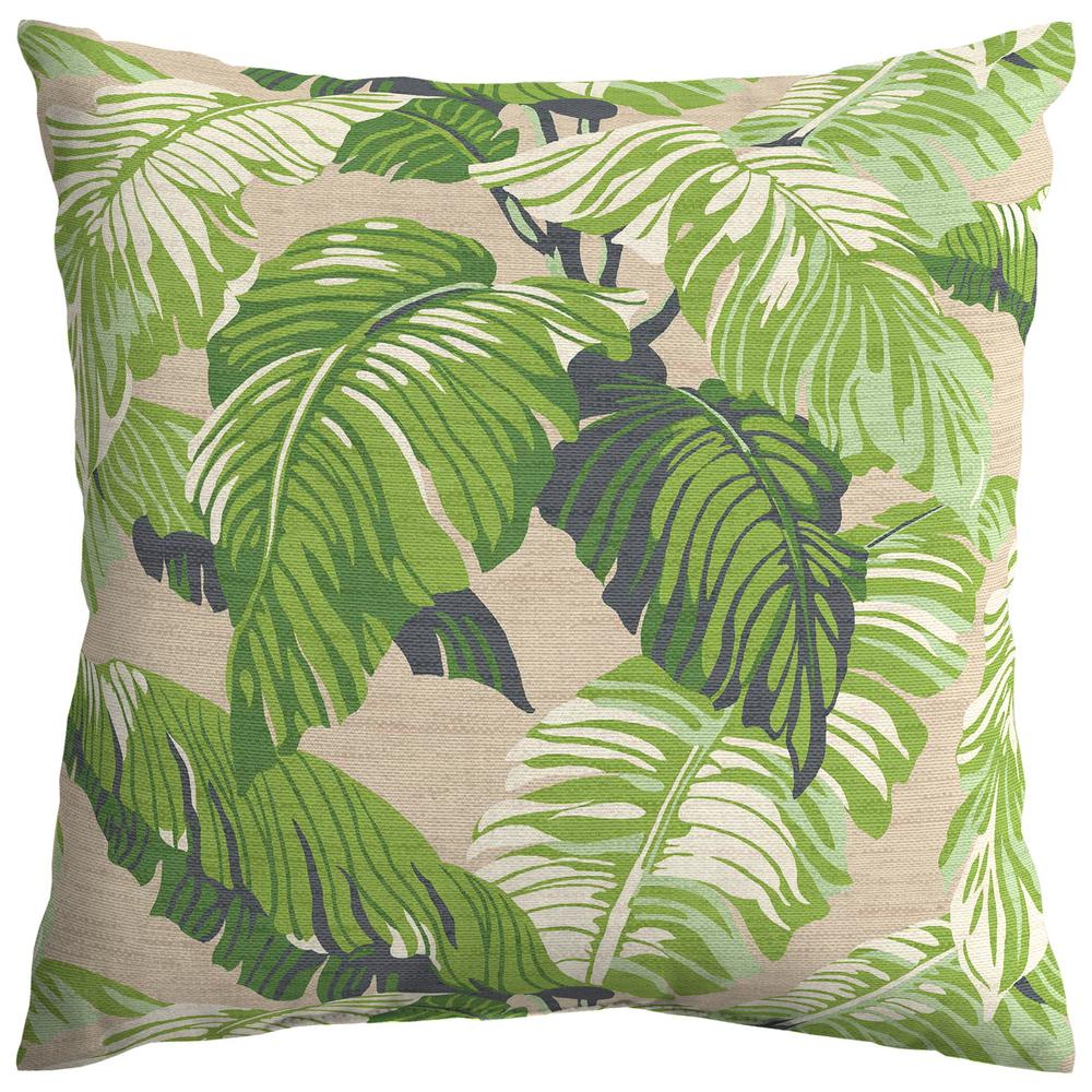 Fern Tropical Square Outdoor Throw Pillow