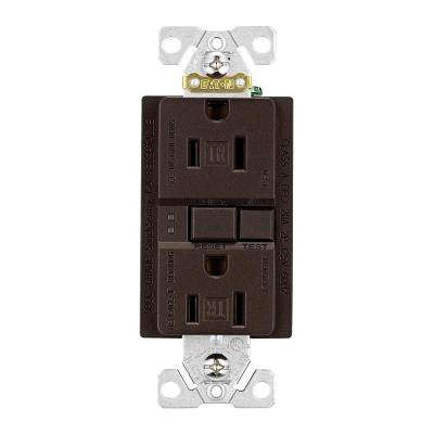 Designer GFCI Self-Test Duplex Receptacle, Oil Rubbed Bronze