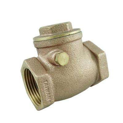 1-1/4 in. Swing Check Threaded Brass Valve
