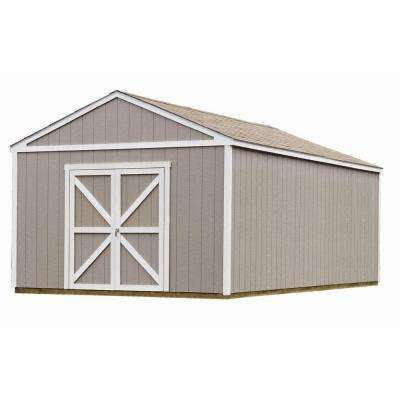 Columbia 12 ft. x 24 ft. Wood Storage Building Kit with Floor