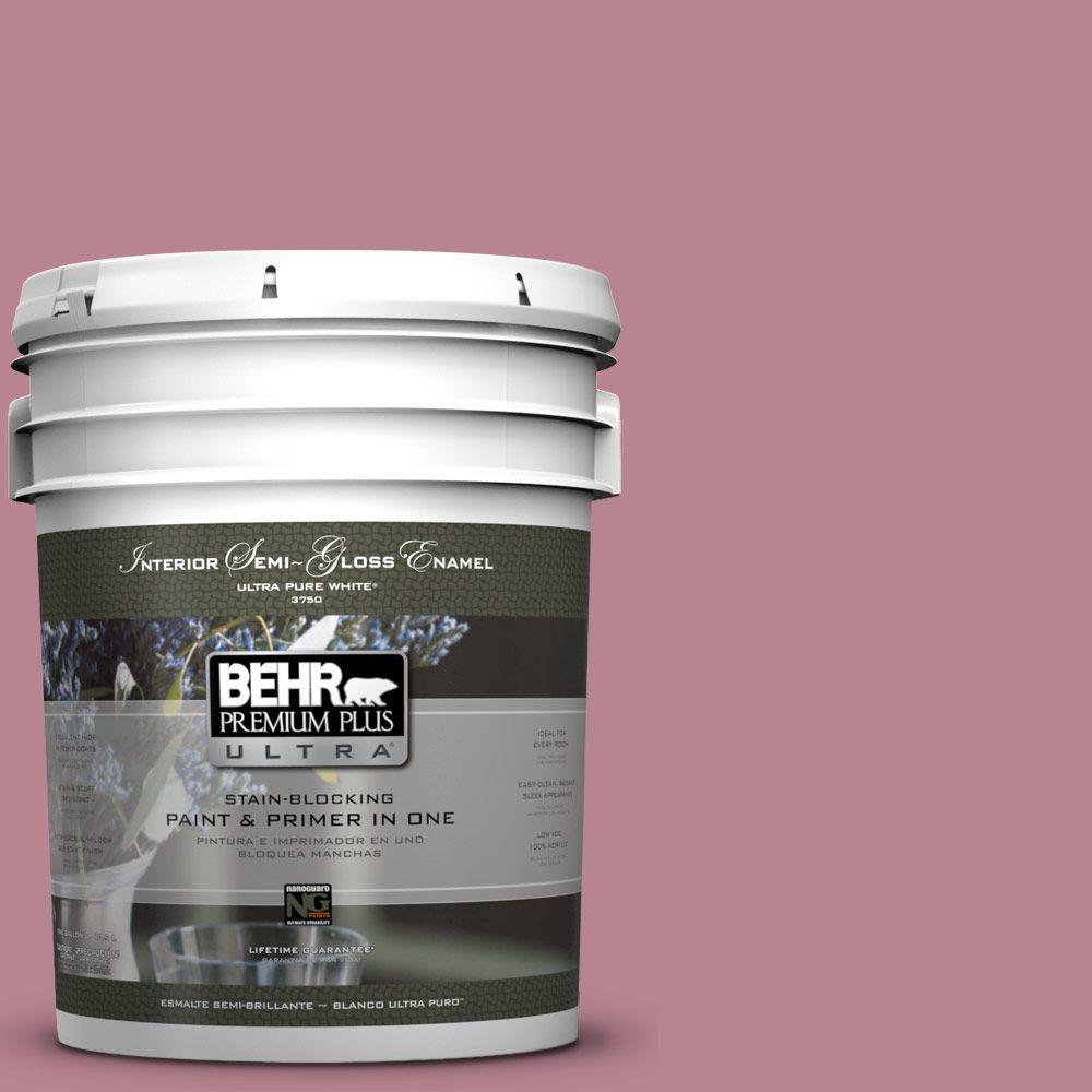 5-gal. #BIC-19 Berry Blush Semi-Gloss Enamel Interior Paint