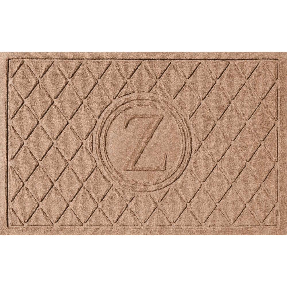 Bungalow Flooring Argyle Medium Brown 24 in. x 36 in. Monogram Z Door Mat