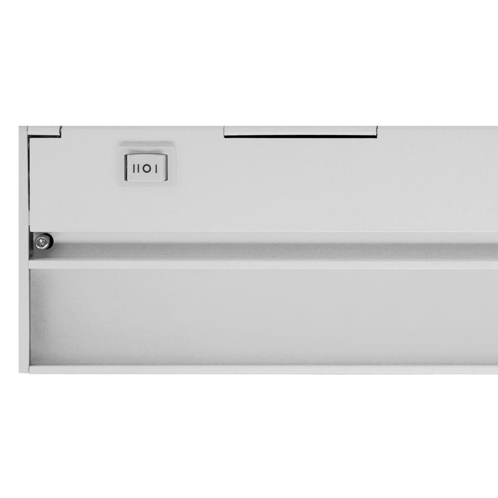 Nicor Slim 30 in. White Dimmable LED Under Cabinet Light Fixture ...