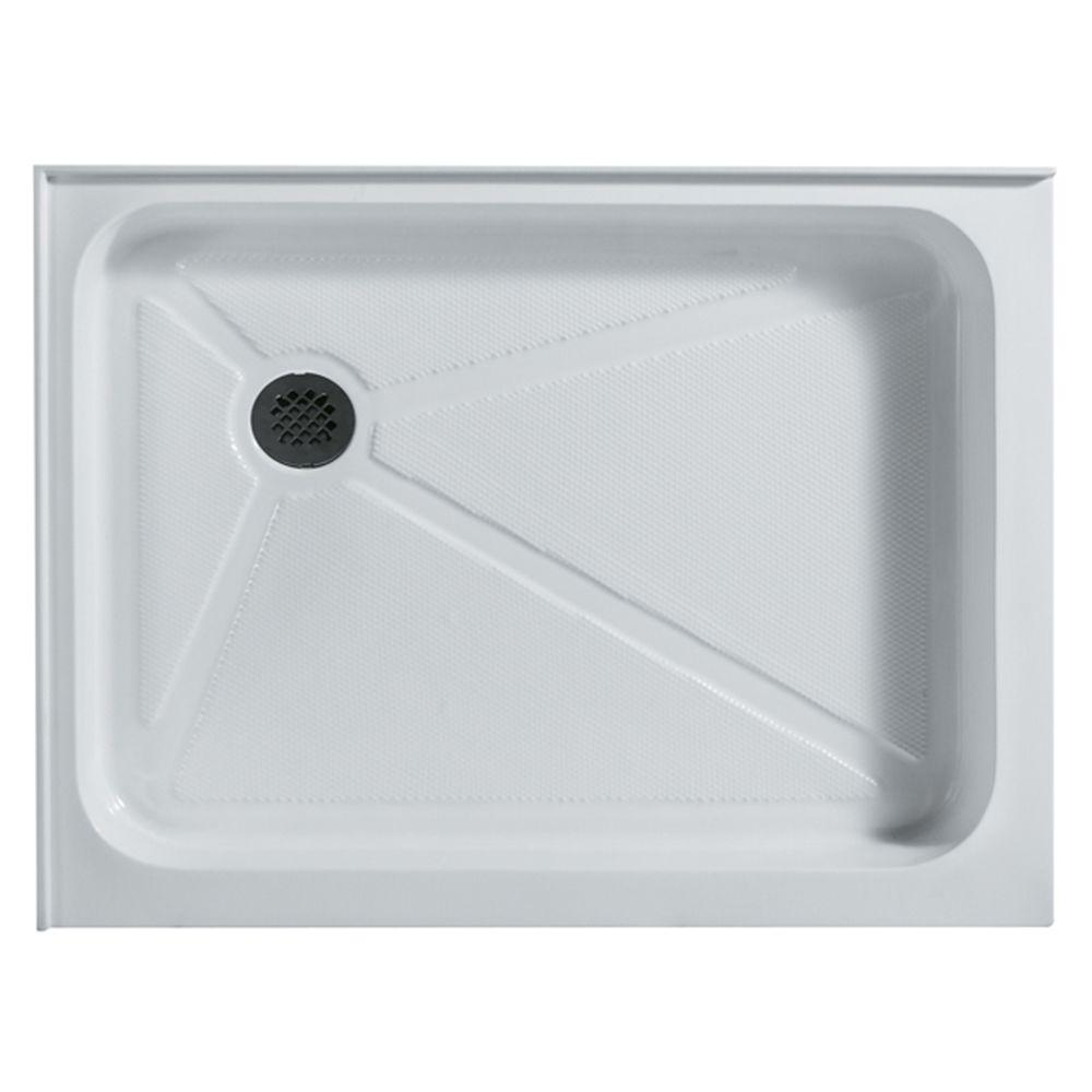 VIGO 36 in. x 48 in. Rectangular Shower Tray in White with Left Drain