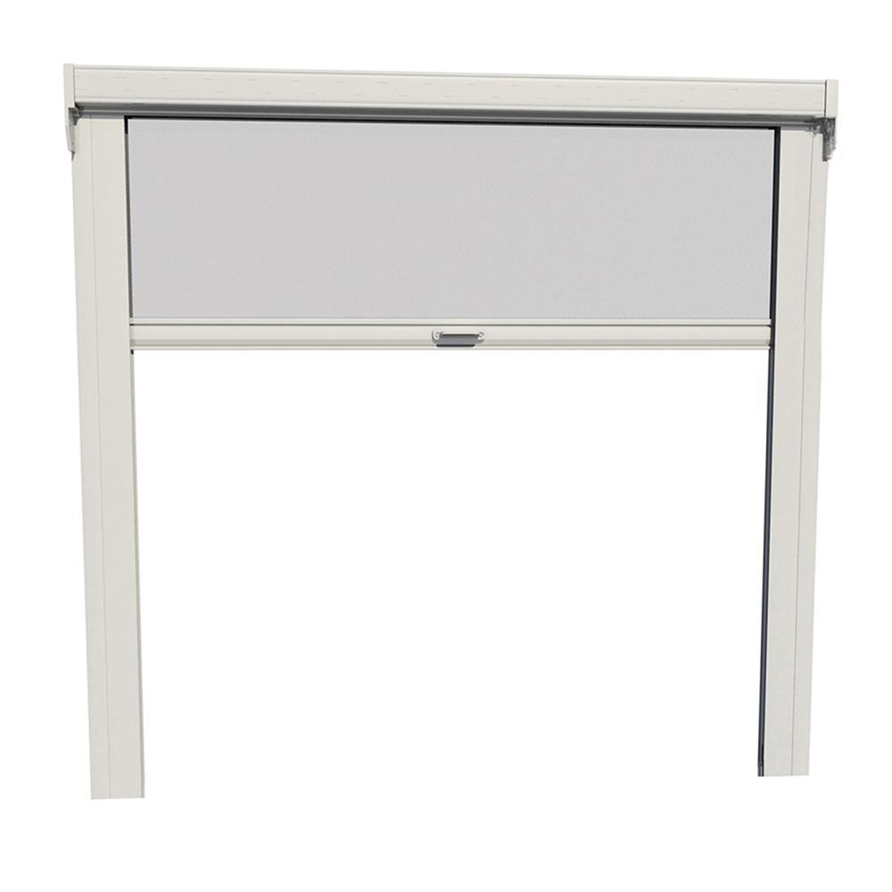 LARSON GrandVue 800 108 in x 96 in White Aluminum Retractable Screen Door