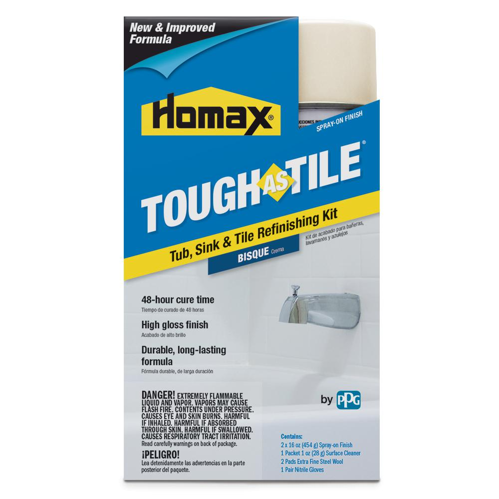 Homax 32 oz. Bisque Tough as Tile One Part Aerosol Kit-3156 - The ...
