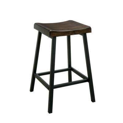 Lainey Industrial Style Black Counter Stool Chair (2-Pack)