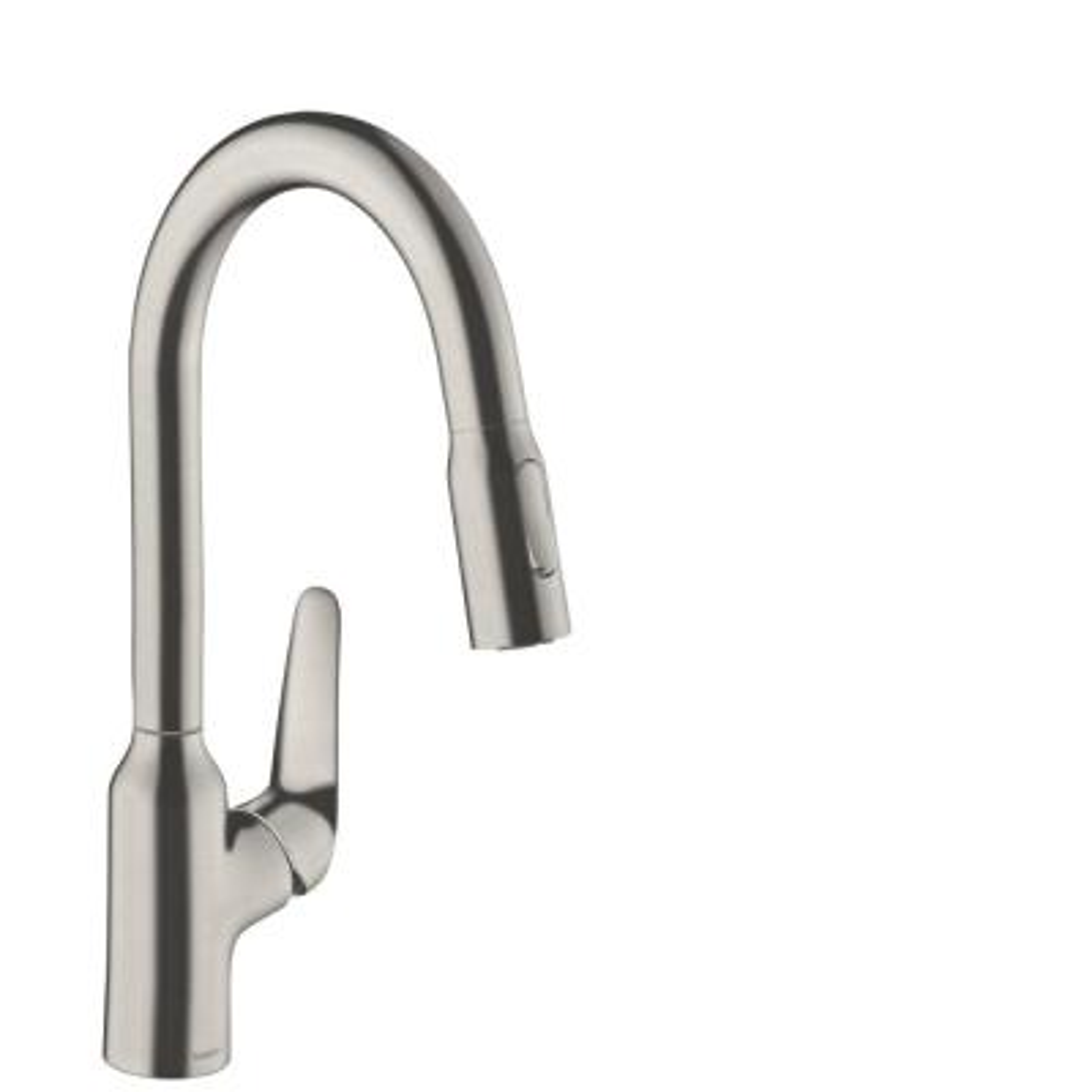 Focus N Single-Handle Pull-Down Sprayer Kitchen Faucet in Steel Optic
