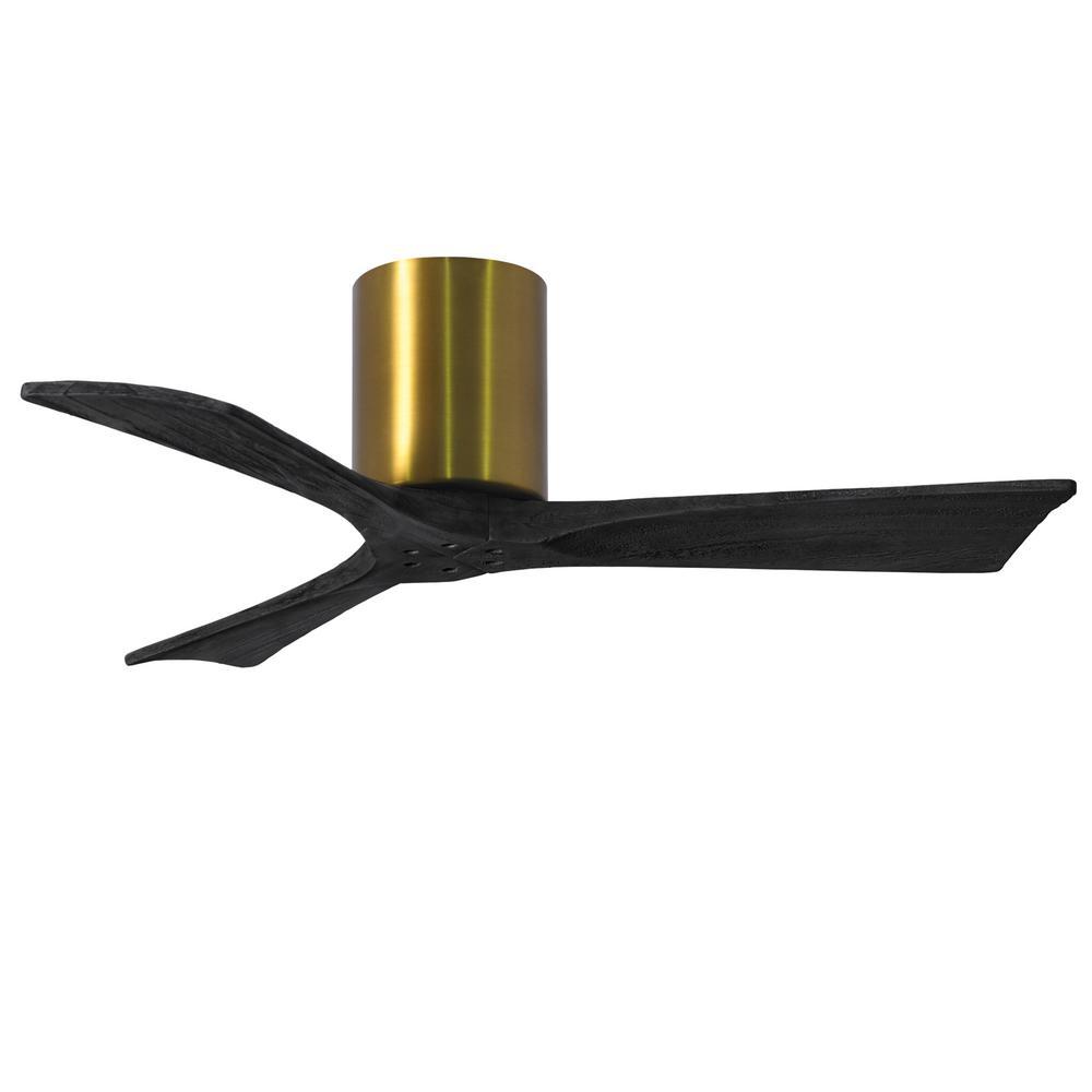 Irene-3H 42 in. Indoor/Outdoor Brushed Brass Ceiling Fan