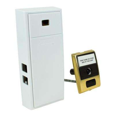 2-Note Mechanical Door Bell Chime and Door Button with Built-In Viewer
