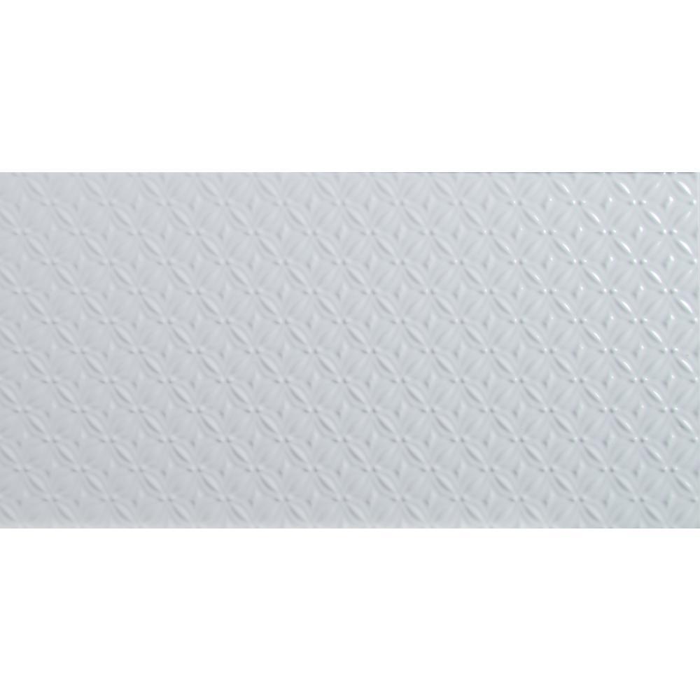 MSI Dymo 12 in. x 24 in. Pattern White Glossy Glazed Ceramic Wall ...