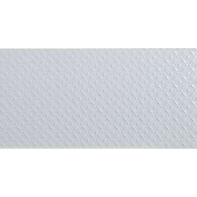 Dymo Pattern White Glossy 12 in. x 24 in. Glazed Ceramic Wall Tile (16 sq. ft. / case)