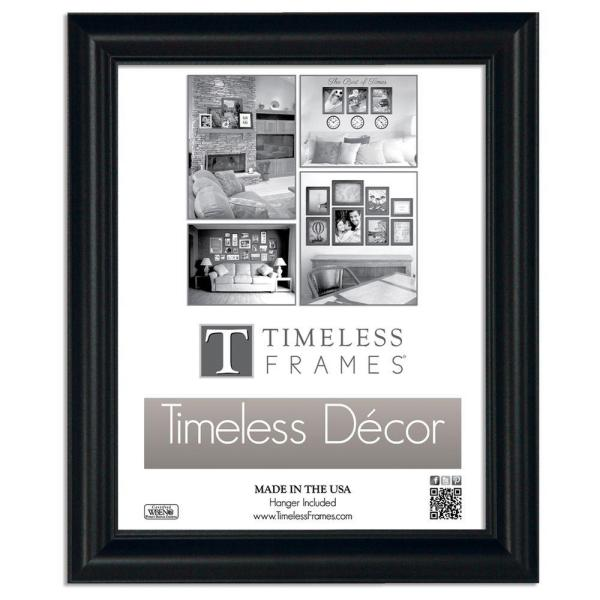 Boca 1-Opening 10 in. x 13 in. Black Picture Frame