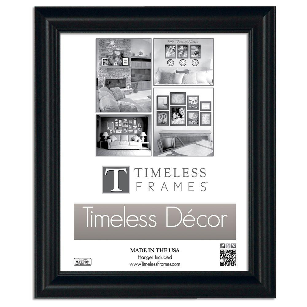 Timeless Frames Boca 1-Opening 10 in. x 13 in. Black Picture Frame ...