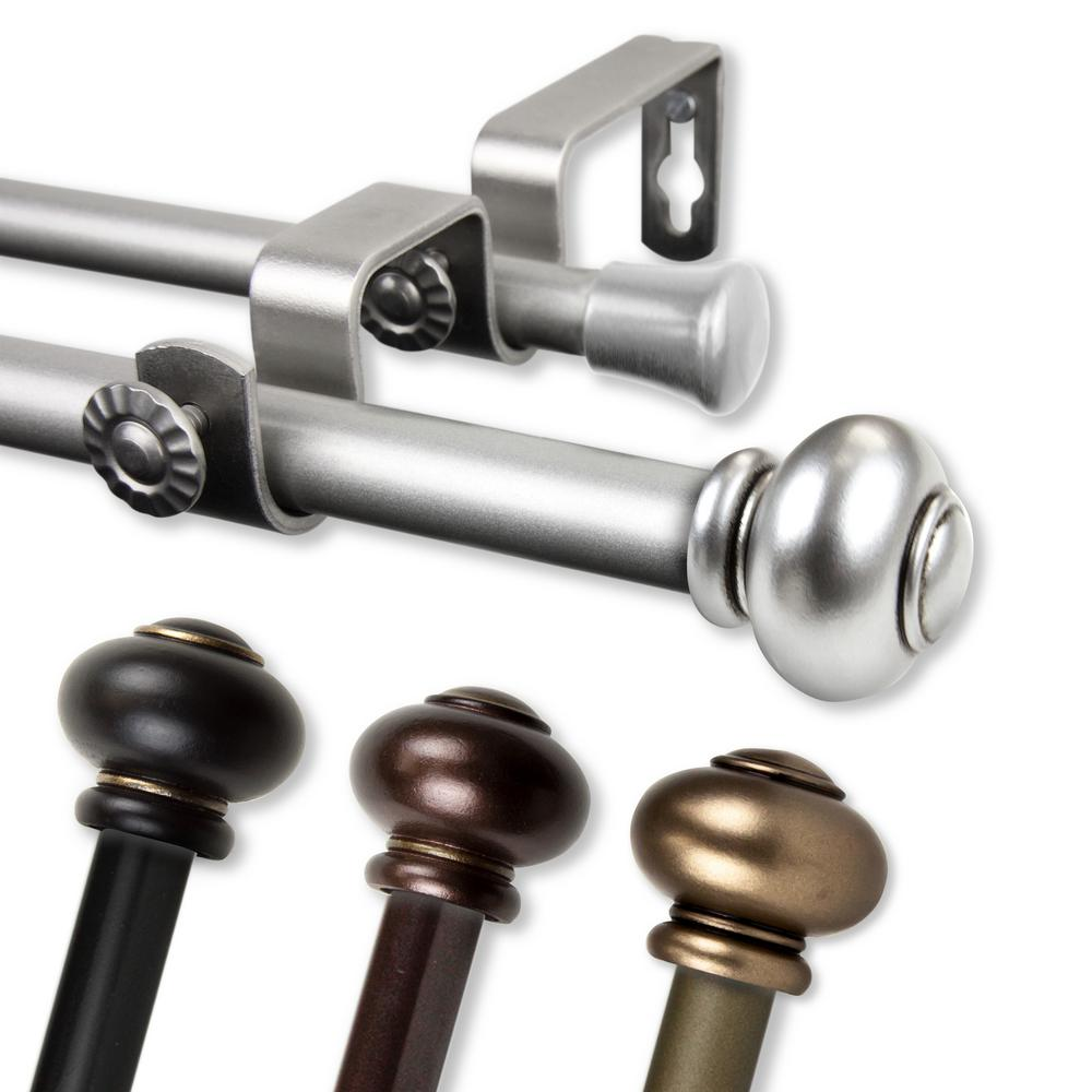 Rod Desyne Yolanda 84 In 120 In Double Curtain Rod In Antique Gold 5788 844d The Home Depot