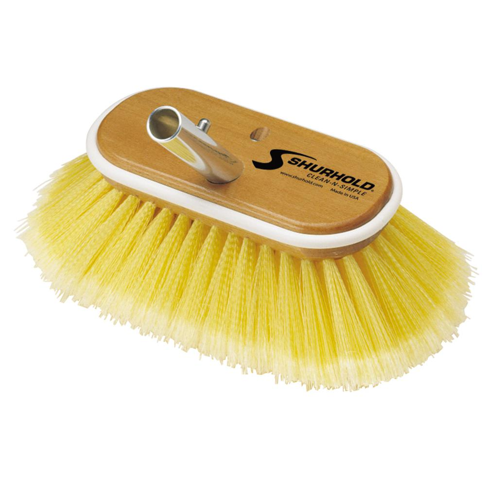 6 in. Deck Soft Brush in Yellow Polystyrene
