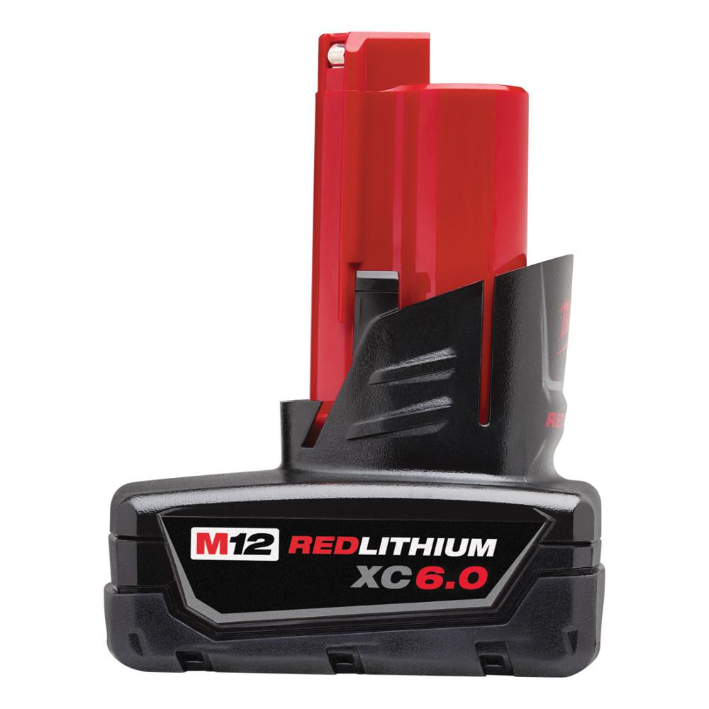 Milwaukee M12 12 Volt Lithium Ion Xc Extended Capacity 6 0ah Battery Pack 48 11 2460 The Home Depot