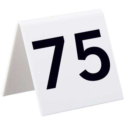 5 in. x 11 in. Numbers 76 to 100 Self-Standing Number Table Cards