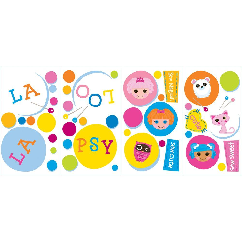 null 10 in. x 18 in. Lalaloopsy Polka Dots 43 -Piece Peel and Stick Wall Decal