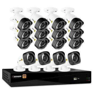 16-Channel HD 1080 TVL 1.9TB DVR Security Surveillance System and 16 Bullet Cameras Mobile Viewing