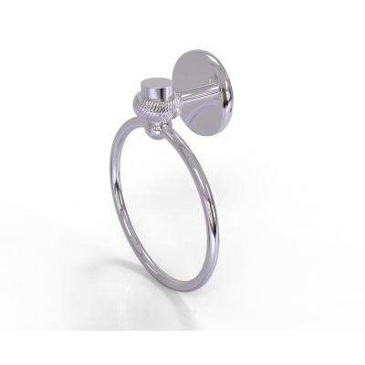 Satellite Orbit One Collection Towel Ring with Twist Accent in Polished Chrome