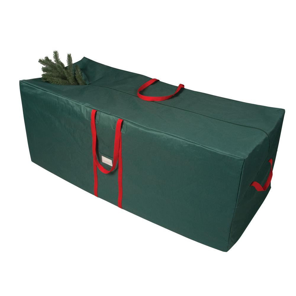Richards Green and Red 58 in. Artificial Tree Storage Bag ...