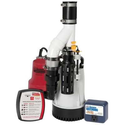 1/3 HP Combination Unit with Emergency Backup Sump Pump System