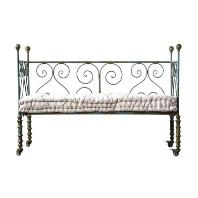 3R Studios Casual Country Heavily Distressed Blue Metal Daybed