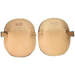 Felt Lined Flat Leather Knee Pads (Pair) by