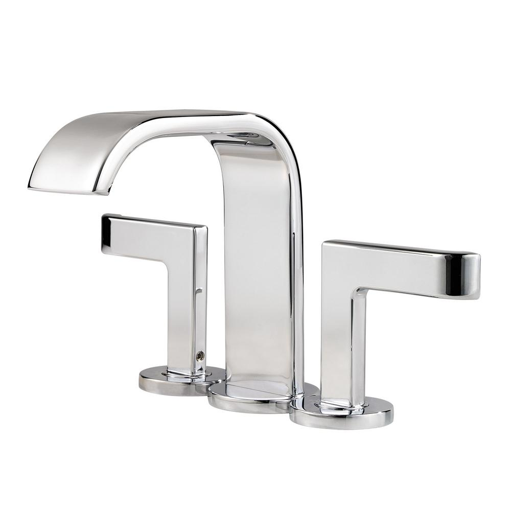 Pfister Skye 4 In Minispread 2 Handle Bathroom Faucet In Polished Chrome F 046 Sycc The Home