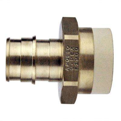 3/4 in. Brass PEX-A Barb x 3/4 in. CPVC Straight Adapter