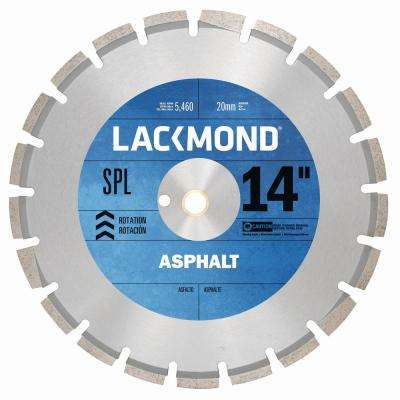 SPL Series Asphalt/Block Blade 14 in. x 0.125 in. - 20 mm Arbor